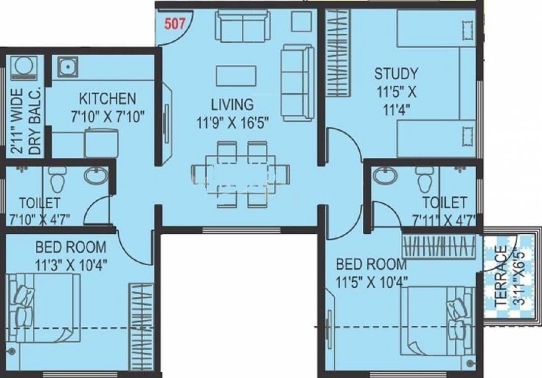 paranjape schemes pratham apartment 2 bhk 1186sqft 20211406151416