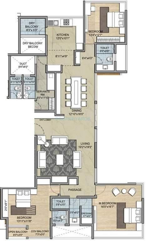 paranjape schemes punarvasu apartment 3bhk 1500sqft1