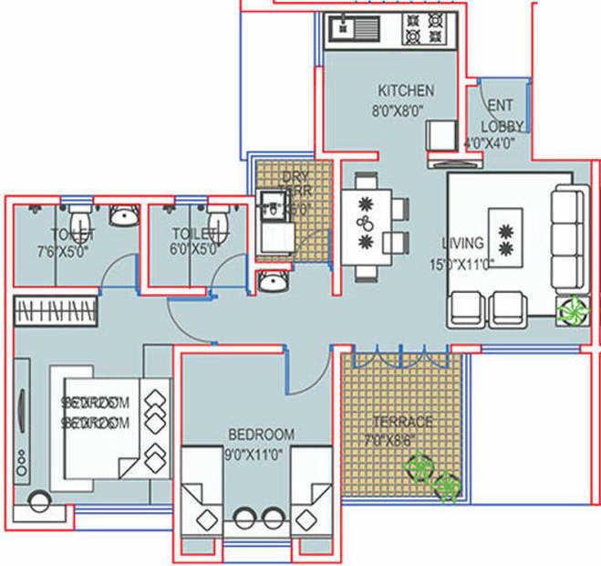 paranjape schemes richmond park apartment 2bhk 953sqft71