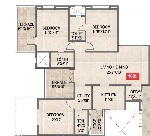 paranjape schemes saptagiri apartment 3bhk 1687sqft41