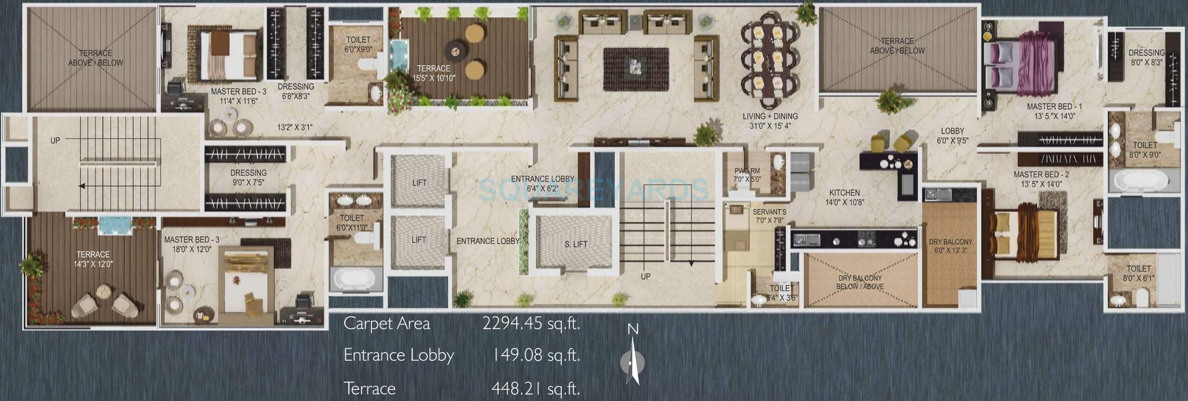 paranjape schemes sky one apartment 4bhk 3727sqft 11012