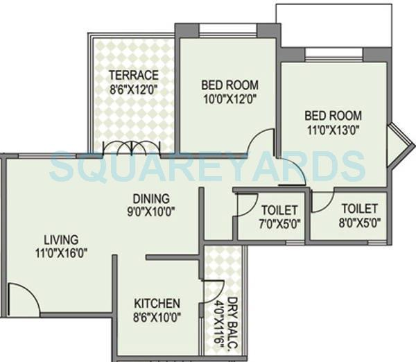 paranjape schemes yuthika apartment 2bhk 2163sqft 10844