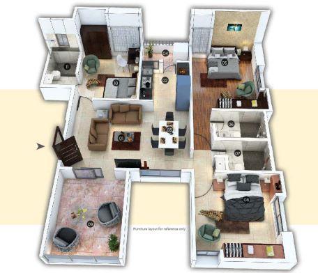 pate kimaya e apartment 3bhk 1012sqft 1