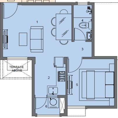 peninsula address one apartment 1bhk 305sqft 1