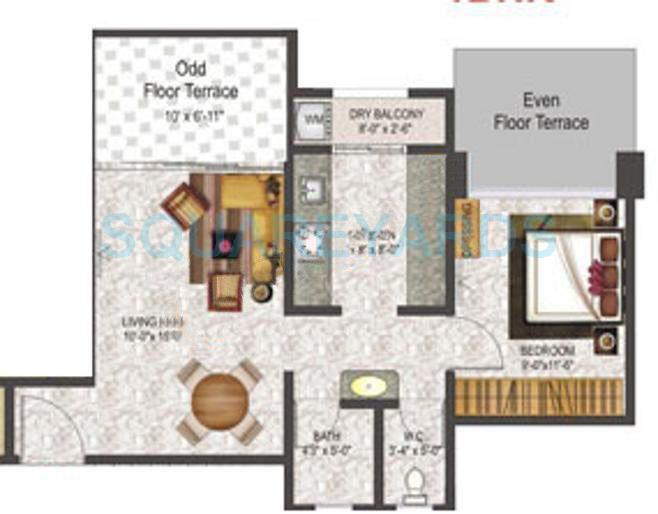 pharande celestial city apartment 1bhk 663sqft 10396