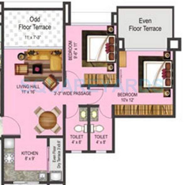 pharande celestial city apartment 2bhk 895sqft 10398