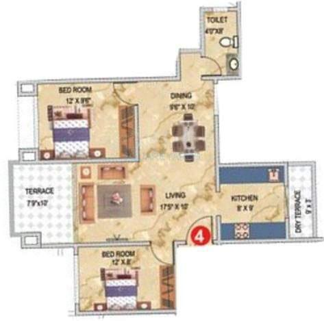 pharande celestial city apartment 2bhk 923sqft 10399