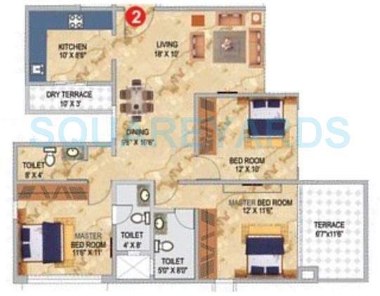 pharande celestial city apartment 3bhk 1174sqft 10402