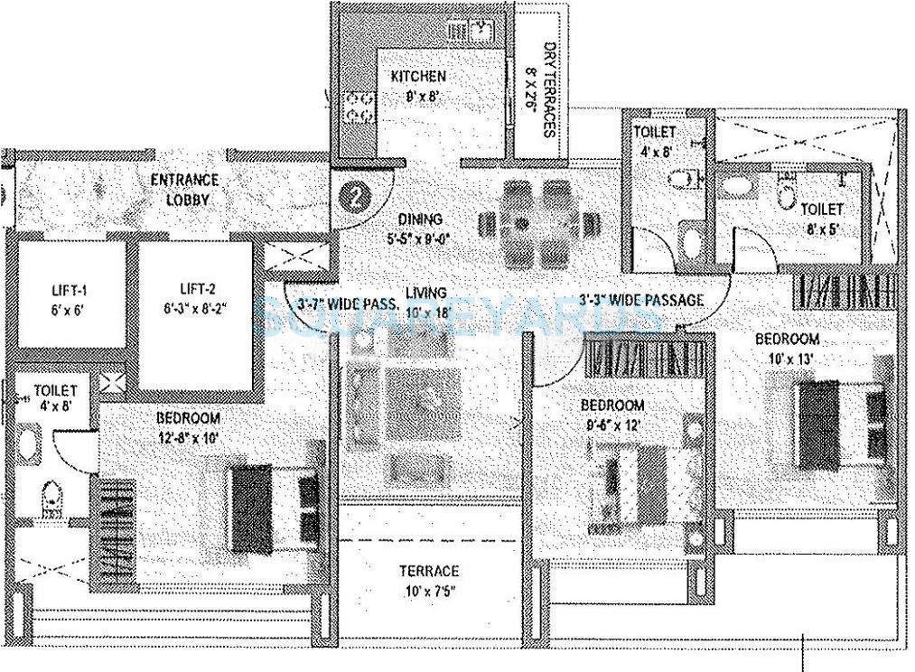 pharande celestial city apartment 3bhk 1210sqft 10403