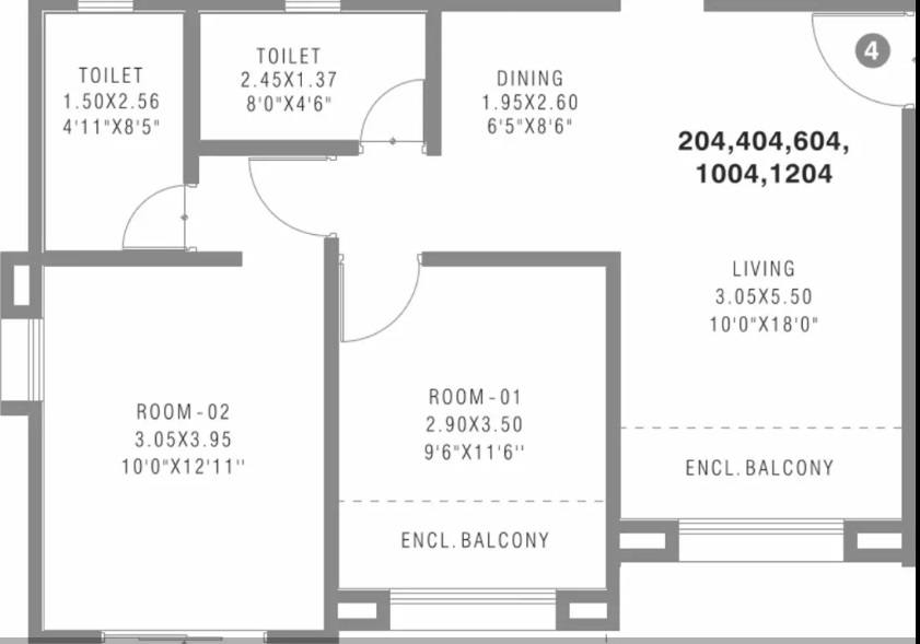 pharande felicity cluster a apartment 2bhk 632sqft01