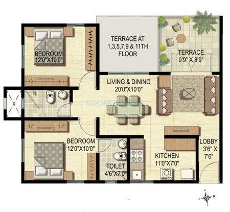 pharande puneville apartment 2bhk 1137sqft1
