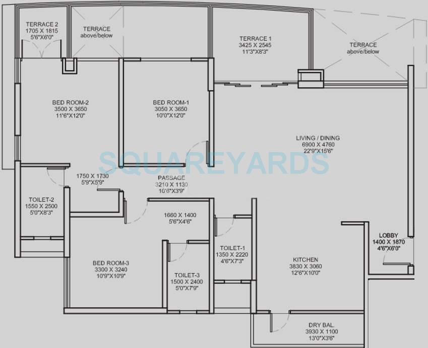 pharande puneville apartment 3bhk 1734sqft 9765