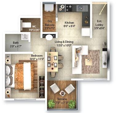 pinnacle neelanchal apartment 1bhk 521sqft41