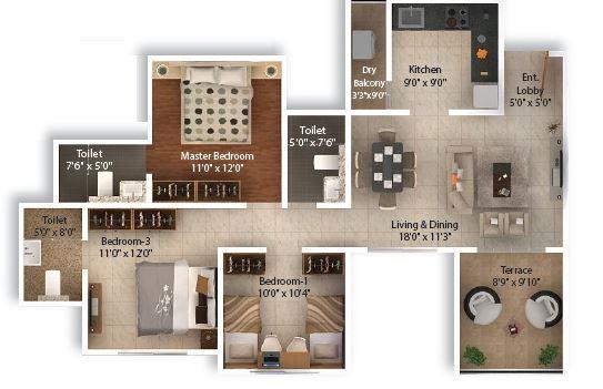 pinnacle neelanchal apartment 3bhk 1025sqft41