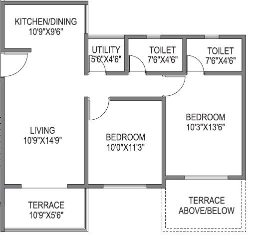 platinum park apartment 2 bhk 646sqft 20211512141508