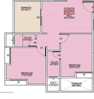 pragati royal serene apartment 2 bhk 775sqft 20204712124711
