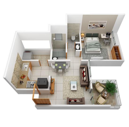 prasad pyramid county apartment 1 bhk 424sqft 20212427122422
