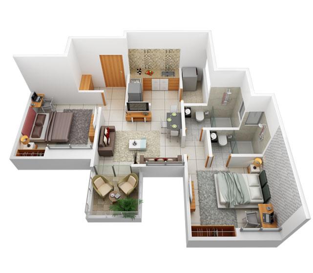 prasad pyramid county apartment 2 bhk 579sqft 20212527122541