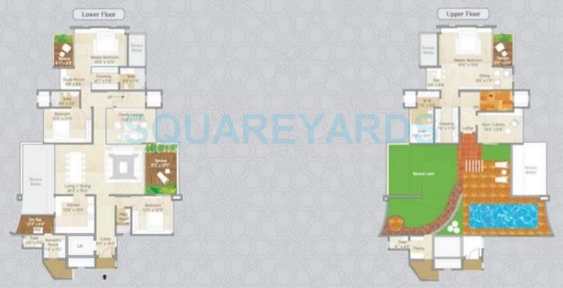 pride park grandeur apartment 4bhk 5180sqft 10545