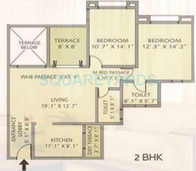 pride park royale apartment 2bhk 1021sqft 11663