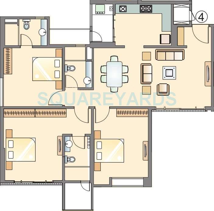 pride park titanium apartment 3bhk 1470sqft 10044