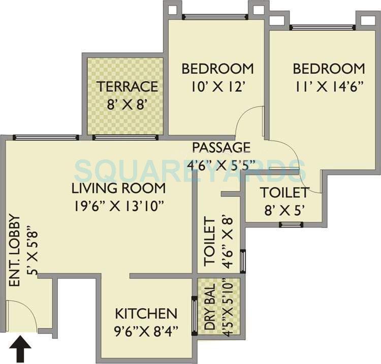 pride park xpress apartment 2bhk 1083sqft 11698