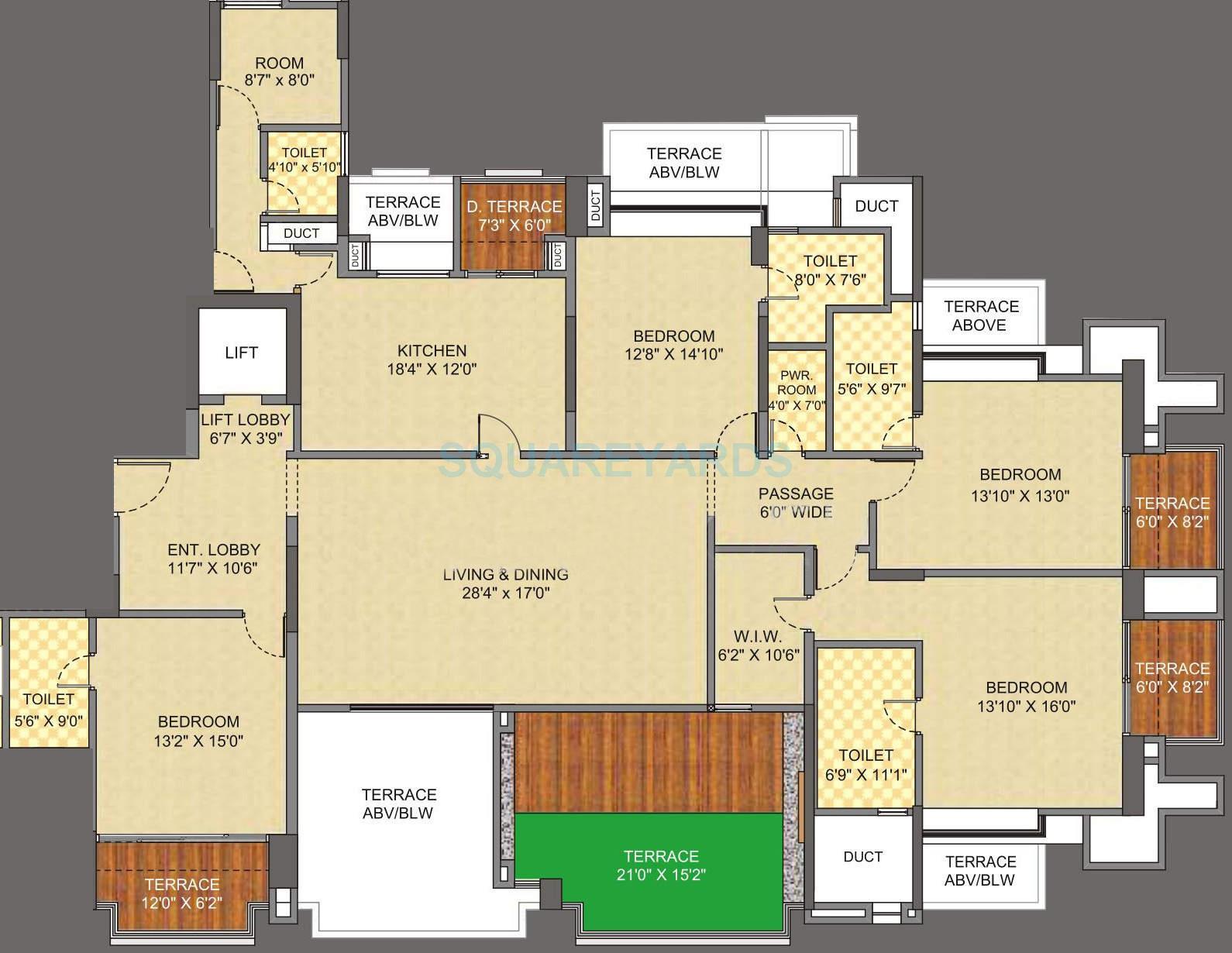 pride the spires apartment 4bhk 3800sqft 9897