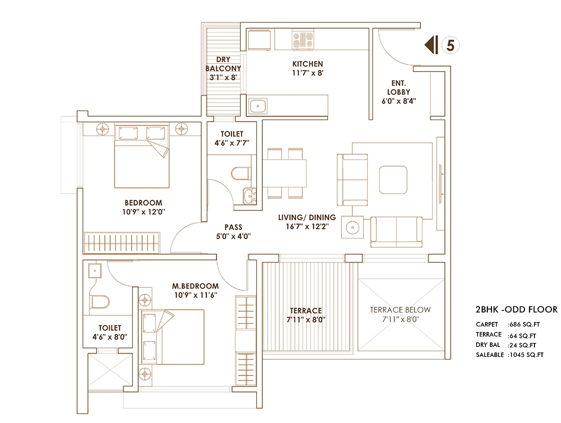 pride world city brooklyn apartment 2 bhk 1045sqft 20202002102010