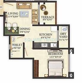 puranik aldea anexo apartment 1bhk 450sqft 1