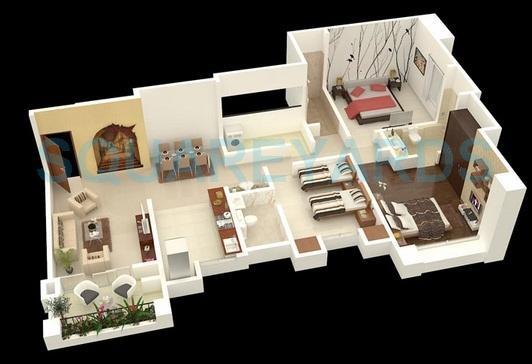 puranik aldea espanola apartment 3bhk 1018sqft 1