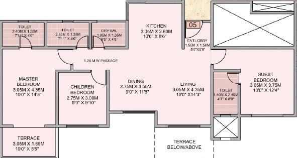 puranik aldea espanola apartment 3bhk 972sqft 1