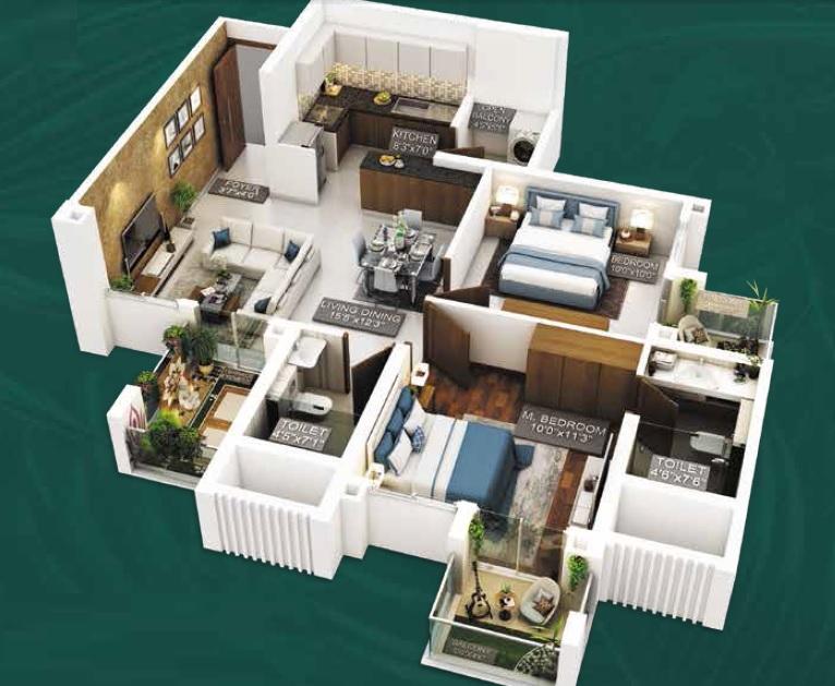 purvankara emerald bay apartment 2 bhk 1146sqft 20215003175031