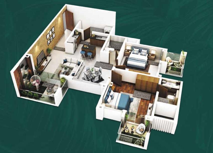 purvankara emerald bay apartment 2 bhk 899sqft 20215003175039