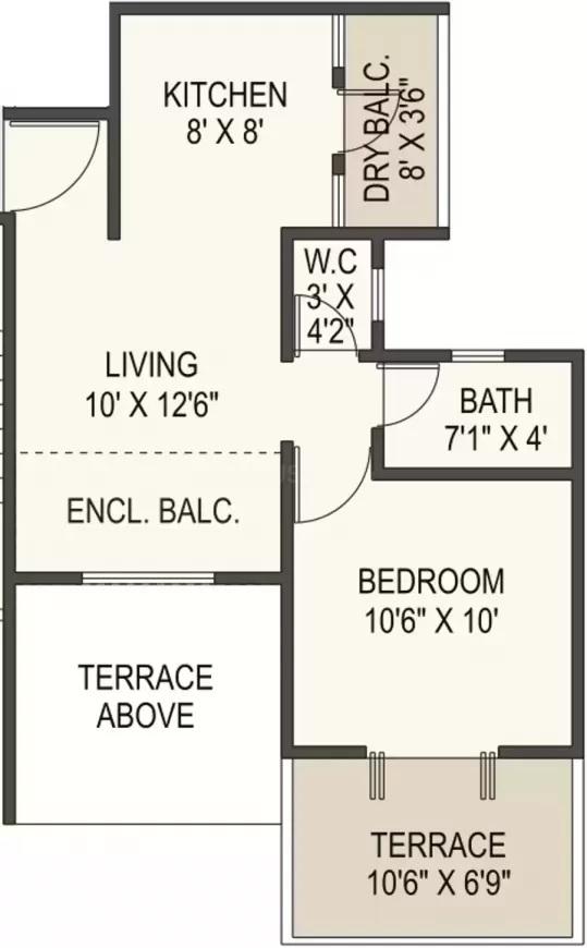 ram green hive plus apartment 1bhk 483sqft61