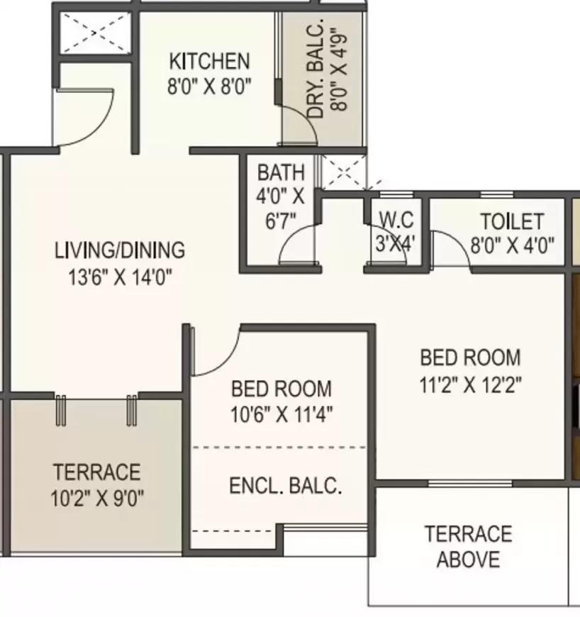 ram green hive plus apartment 2bhk 778sqft41