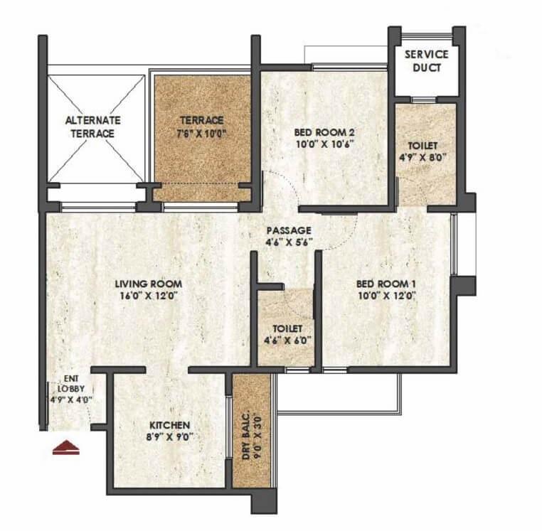 rama melange residences phase ii apartment 2 bhk 512sqft 20213203133252