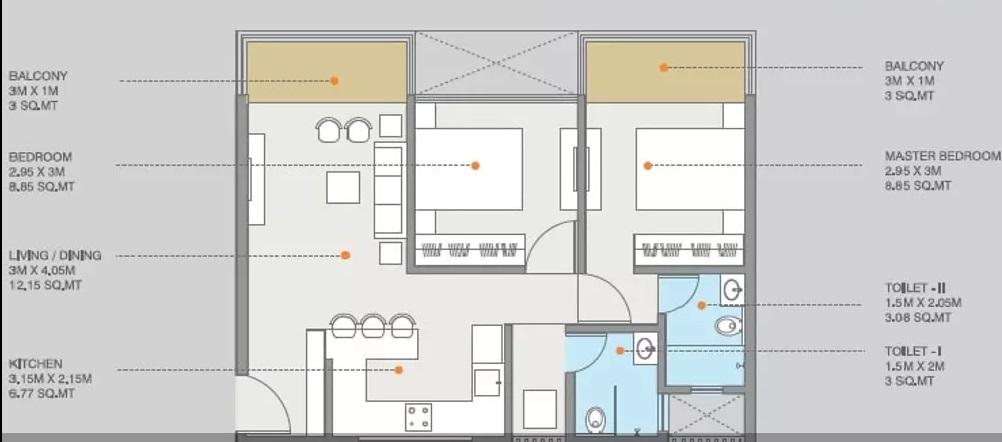 ravima newton homes apartment 2bhk 611sqft01