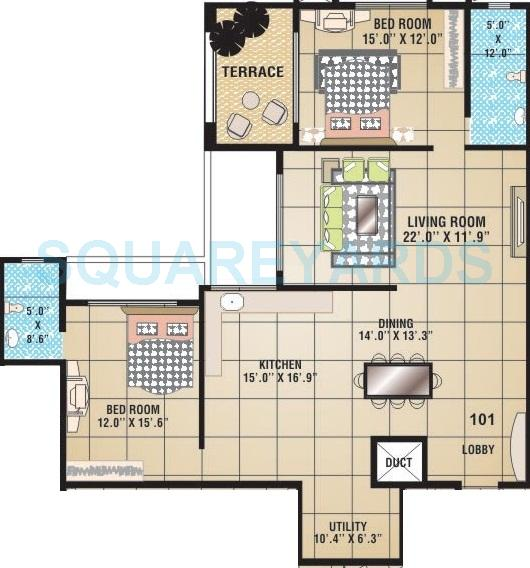 raviraj fortaleza apartment 2bhk 1250sqft 1