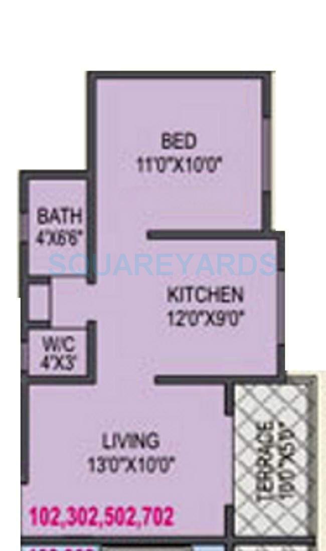 rk lunkad alankapuram apartment 1bhk 578sqft 10453