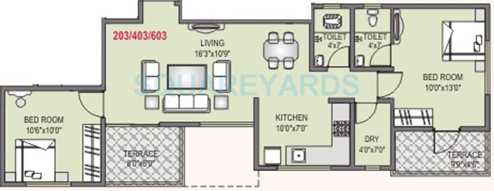 rk lunkad punya bhumi apartment 2bhk 826sqft 10018