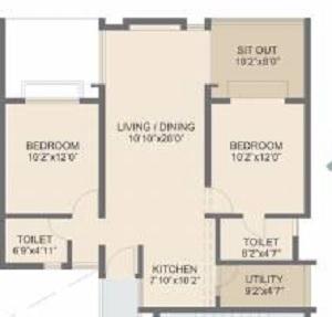 rohan abhilasha apartment 2 bhk 1082sqft 20213305163351