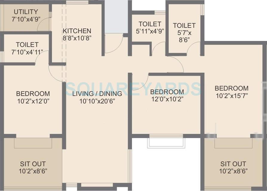 rohan abhilasha apartment 3bhk 1470sqft 9742