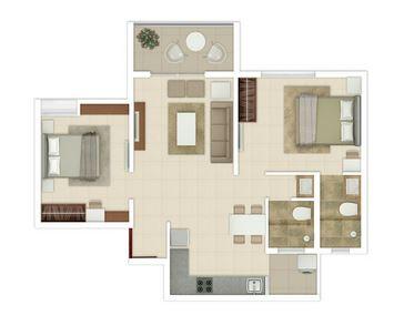 rohan ananta phase 2 apartment 2bhk 638sqft01