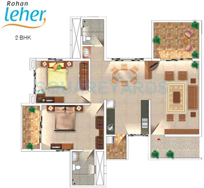 rohan leher apartment 2bhk 1193sqft 10959