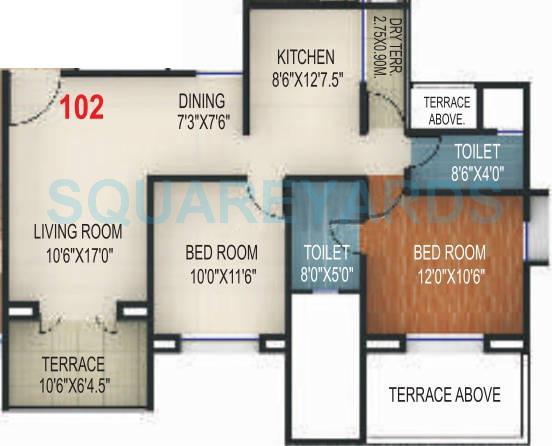 rohan silver gardenia apartment 2bhk 1140sqft 10462