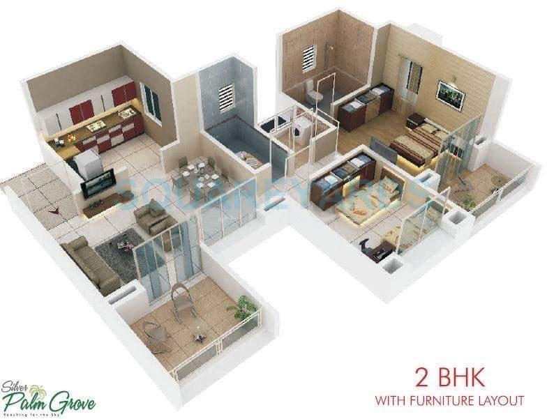 rohan silver palm grove apartment 2bhk 1052sqft 10366