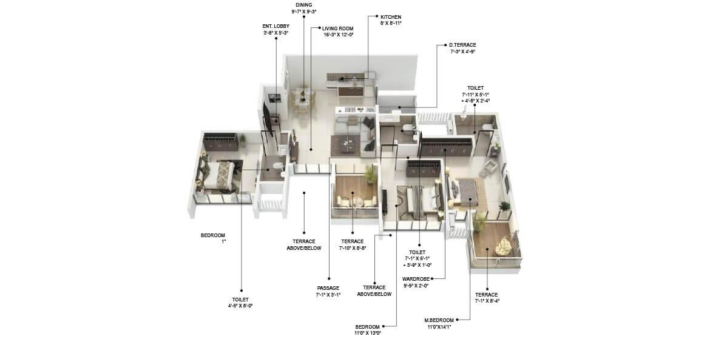 runal gateway apartment 2bhk 1216sqft 1