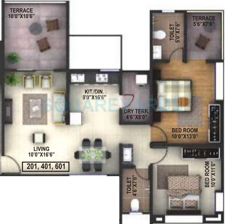 runwal savoir faire apartment 2bhk 1102sqft 10581