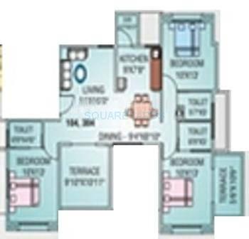 runwal swaranjali apartment 3bhk 1232sqft 11462
