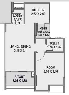 saarrthi savvy homes apartment 1bhk 516sqft 1
